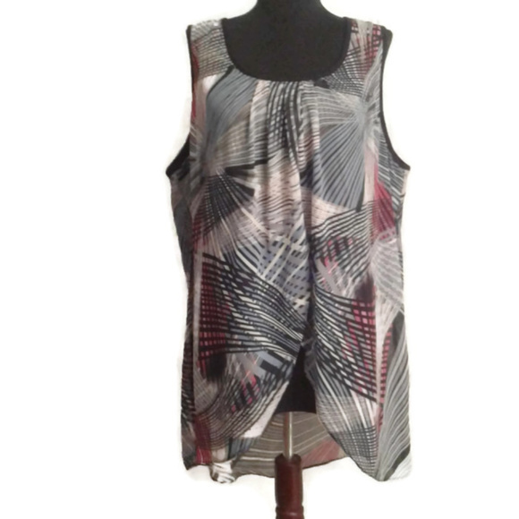 0c268821aa3d7d Women with Control 1X high low tunic tank top. M 5b1181a4194dad0d6716797b